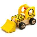 大好きな働く車とドライバーのセット【木のおもちゃ】I'm TOY アイムトイ はたらく車 イエロー【0309PUP10M】