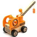 大好きな働く車とドライバーのセット【木のおもちゃ】I'm TOY アイムトイ はたらく車 オレンジ