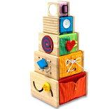 塔上帝的木制玩具智力训练] [教育玩具I'm玩具Aimutoi培训立方体 1岁生日:生日的人[旧]:男 [和容易的选择礼物盒礼物盒包装更容易讨论了礼物盒方便][木のおもちゃ 型はめ I''m TOY アイムトイ 知育玩具 トレーニン