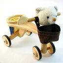【乗用玩具】 木のおもちゃ jun-collection アニマルバイク クマ 誕生日 1歳 男 女【10P20Nov15】