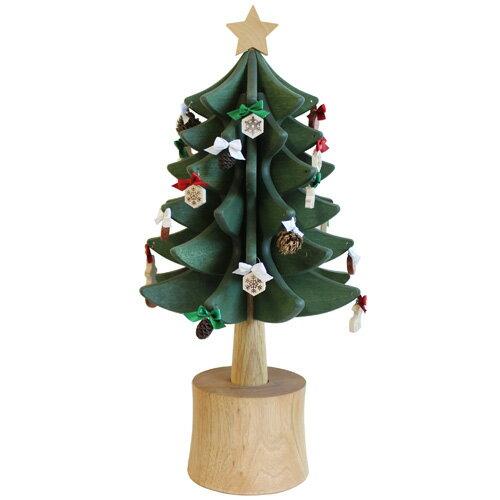 【クリスマスツリー】オークヴィレッジ・Oak Village オルゴールツリー スタンダード(グリーン) 曲目:ジングルベル 数量限定【クリスマスプレゼント 子供】【c】【】