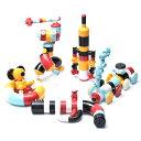 【ブロック】Tublock(チューブロック)キッズセット5色(白・青・黄・黒・赤) 知育玩具 日本製【c】【】