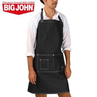 正規大的喬恩BIG JOHN圍裙粗斜紋布男性事情工作圍裙保育士咖啡圍裙園藝圍裙烹調函售/物品ゆう到2分由于評論到達以後是非常便宜特價促銷