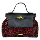 ショッピングエナメルバッグ イタリア バッグ BECATO CONSUELO 刺繍エナメルバッグ ショルダーストラップ付 赤【送料無料】【あす楽対応】