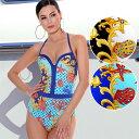 【2019春夏】イタリアインポート水着 JOLIDON CRUISE RF33 パネルプリント水着ワンピース 2色【送料無料】【あす楽対応】【コンビニ受取対応商品】