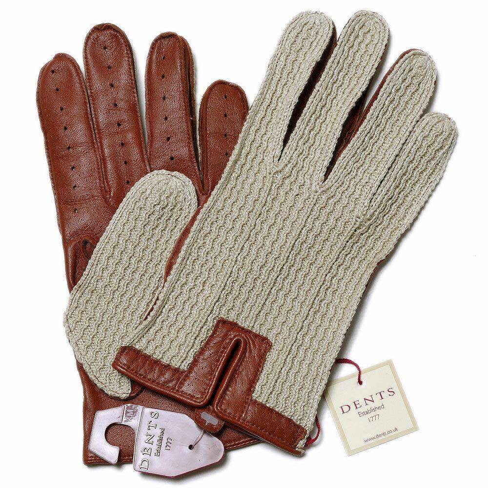 【送料無料】DENTSデンツ メッシュドライビンググローブ 5-1050 Cognac メンズ 手袋*