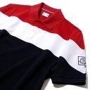 モンクレール2018SS ガムブルー【イタリア製】鹿の子ポロシャツ83197(795トリコロール