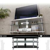 テレビ台 コーナー ガラス製 ハイタイプ テレビボード TV台 32型 まで対応 26型 22型 テレビラック TVラック 薄型液晶TVボード 送料無料 ブラック 黒 ホワイト 白 おしゃれ 幅1200 オーディオラック オープン シンプル 鏡面 強化ガラス 収納 ガラス モダン