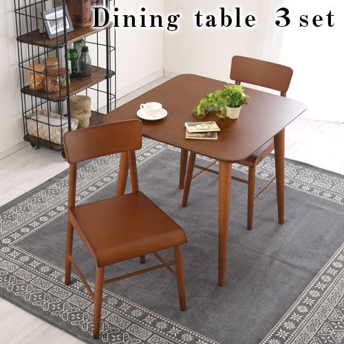 ダイニングテーブル セット 天然木製 ダイニングセット リビングテーブル レトロ ダイニン…...:model-bon:10008511