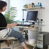 パソコンデスク ガラス PCデスク インテリア 学習机 勉強机 つくえ テーブル パソコン机 パソコンラック ハイタイプ オフィス 送料無料 格安 おしゃれ
