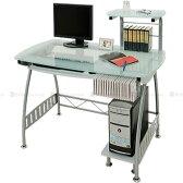 パソコンラック pcデスク ラック付き 仕事机 オフィスデスク パソコンデスク ガラス パソコン机 ガラスデスク 机 つくえ 送料無料 新作 インテリア おしゃれ
