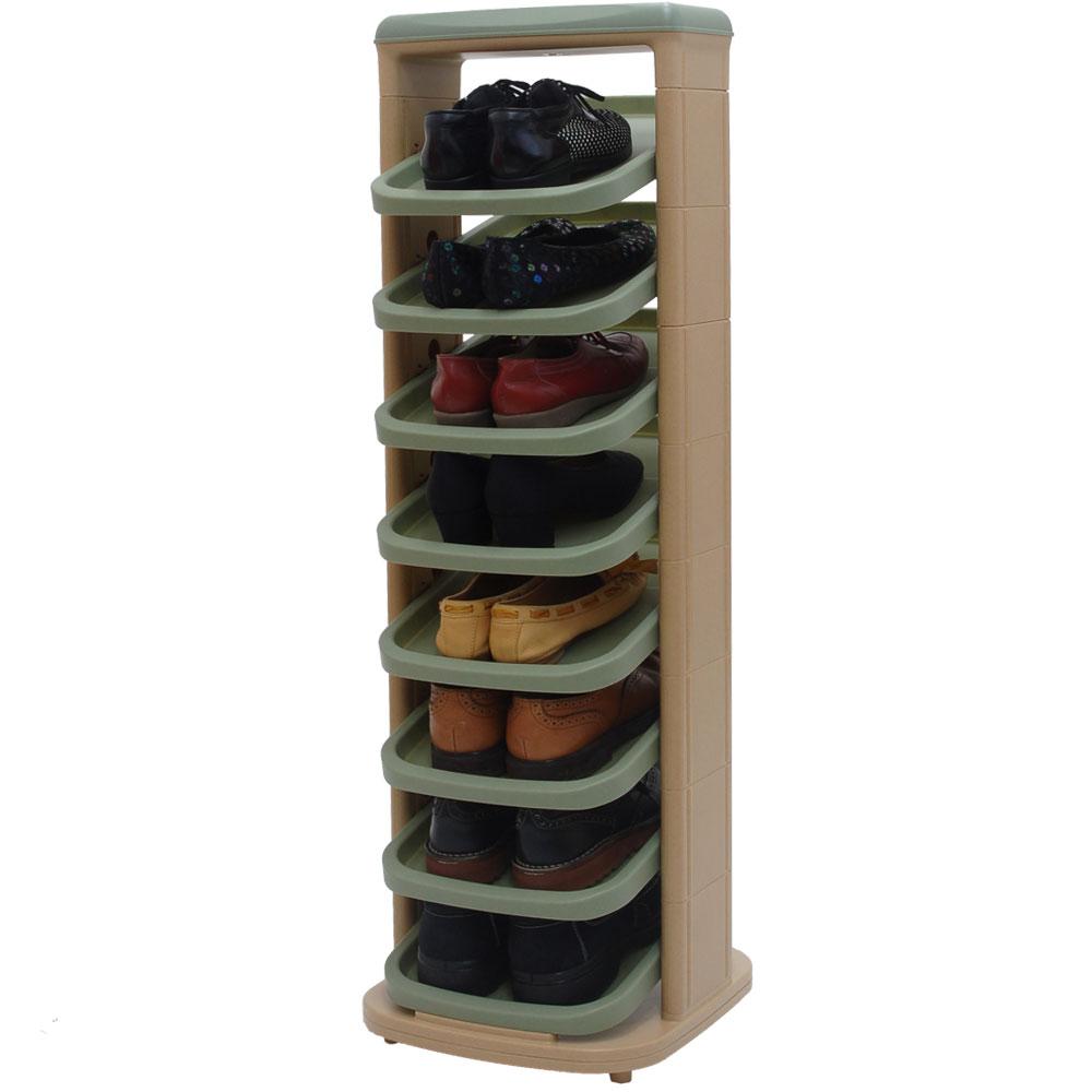 ラック シューズラック スリム 斜め 子供 靴箱 玄関収納 下駄箱 木製 カントリー シュ…...:model-bon:10000095