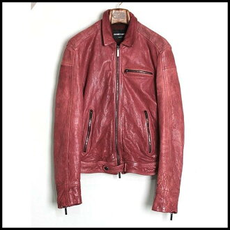 ■46 EMPORIO ARMANI Emporio armani ■ 13SS leather riders ■ mho key red ■ ■ SAFARI publications product