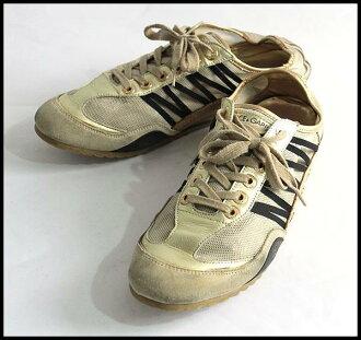 ■ DOLCE &GABBANA Dolce & Gabbana ■ mesh sneakers ■ beige x Gold ■ 8