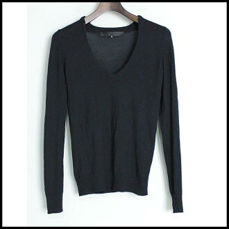 ■JENS LAUGESEN イエンスラウガセン ■ cashmere blend V neck knit ■ navy ■ 810P30Nov13