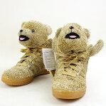 adidas Originals by JEREMY SCOTT アディダスオリジナルス by ジェレミースコット JS BEAR ベアスニーカー レディース ゴールド 23.5cm