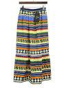 【中古】Needles ニードルズ 20SS Gather Skirt ネイティブ柄レーヨンコットンギャザースカート ミックス 2 レディース