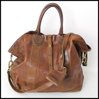 ■ RRL (STDM 2) vintage processing 2-WAY leather bag Brown ■ b