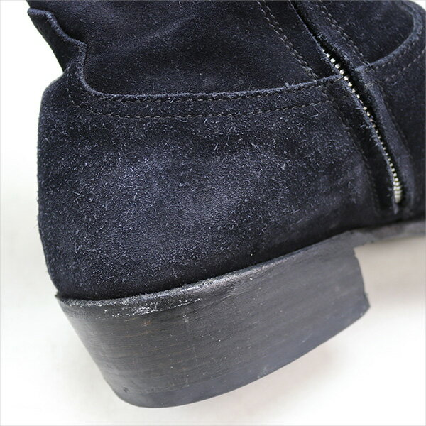 nonnative ノンネイティブ ×Rags McGREGOR 16SS RANCHER ZIP UP BOOTS スウェードレザーブーツ ブラック 41(27.0cm)【中古】直送商品