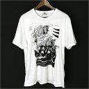 HYSTERIC GLAMOUR ヒステリックグラマー ×SKOLOCT THE CRAMPSプリントTシャツ ホワイト XL【中古】
