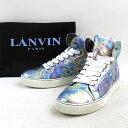 LANVIN ランバン 15SS メタリックハイカットレザー...