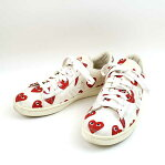 CONVERSE コンバース x PLAY COMME des GARCONS 13SS PRO LEATHER ハートプリントキャンバススニーカー メンズ アイボリー 27cm