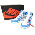 NIKE ナイキ ×OFF WHITE AIR JORDAN 1 RETRO HIGH NRG POEDER BLUE AQ0818-148 スニーカー メンズ ブルー 28.5cm