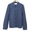ショッピングブロック 【中古】MAISON KITSUNE メゾン キツネ 16SS ブロックチェックシャツジャケット メンズ ブルー M