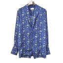 【中古】BED J.W. FORD ベッドフォード 18SS Open collar shirt. ver.1 総柄オープンカラーシャツ メンズ ブルー 1