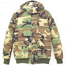 【中古】MAGIC STICK マジックスティック 11AW E-LINE Military Down Jacket カモフラージュダウンジャケット カーキ L メンズ