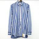 【中古】Maison MIHARA YASUHIRO メゾン ミハラヤスヒロ 18AW メジャーテーププリントシャツ ブルー 44 メンズ
