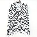 【中古】SUNSEA サンシー 18SS ZEBRA GIGOLO SHIRTS ゼブラ柄オープンカラーオーバーサイズシャツ ホワイト×ブラック 2 メンズ