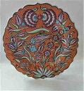 ショッピング陶器 トルコ陶器手描きの飾り皿・イスタンブー・オレンジ