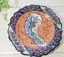 ショッピング陶器 トルコ陶器手描きの飾り皿オレンジ・イスタンブール