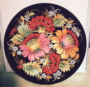 ショッピング壁掛け 鮮やかな花模様の木製のお皿