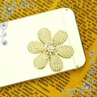 デコパーツ 【パール ビッグ フラワー 存在感のある花DECO】(ガラスストーン/白/ホワイト/大きい/真珠の花弁)携帯ケース スマホケース iPhoneケース アクセサリーパーツ デコ 素材 パーツ