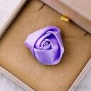 バラ 薔薇 紫 【2個入り】リボン 布 手芸材料 ハンドメイド 素材