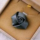 バラ 薔薇 灰色 グレー 【2個入り】リボン 布 手芸材料 ハンドメイド 素材