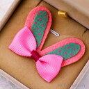 うさぎの耳 ピンク 【2個入り】リボン 布 手芸材料 ハンドメイド 素材