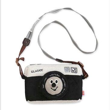 ポイント10倍♪ジャンボカメラポーチ ブラックGLADEE(グラディー)・女子に人気のおしゃれでかわいいカメラケース♪旅行や遠足、行楽などアウトドアにおすすめなカメラバッグ/カメラケース/デジカメポーチ/デジカメケース/カメラバック/iphone/スマホポーチ