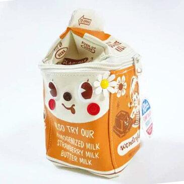 【メール便対応】ミルクパック ポーチ チョコレートChocolate GLADEE(グラディー)・コスメポーチ(化粧ポーチ)やデジカメポーチ(デジカメケース)にオススメなかわいいポーチ♪旅行やコスメ、アクセサリー、スマホに使えるマルチポーチ