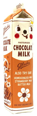 ミルクパックペンケース チョコレート(Milk Pack Pencase chocolate)GLADEE(グラディー)・ペンポーチ、筆箱(ふでばこ)トラベルポーチ(旅行ポーチ)やコスメポーチ(化粧ポーチ メイクポーチ)に使えるマルチポーチです♪!アクセサリーポーチ ミニポーチにも!