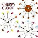 チェリー ウォールクロック(壁がけ時計)おしゃれなデザインの壁掛けウォールクロック。ナチュラルシンプルなインテリアにもぴったりでかわいい♪キッチン、リビングの壁時計や洗面所にもおすすめのかけ時計