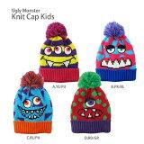Ugly Monster Knit Cap (キッズ ニットキャップ) ・大人気!ボンボン付きニット帽☆大きなポンポンの付いた正ちゃん帽は男の子や女の子のどんなカジュアルな子供服に