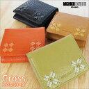 二つ折り財布 財布 レデイース ミチコロンドン(MICHIKO LONDON) クロスシリーズ ボックス型小銭入れ 水革 バッファロー