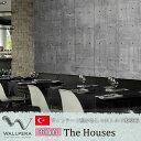 《即日出荷》 トルコ製壁紙 WALLPERA【2176-001】The Houses 343x265[輸入壁紙 デザイン おしゃれ 不織布 壁紙 クロス のりなし DIY リフォーム 撮影 店舗 装飾 インテリア 内装 カルトナージュ インダストリアル ヴィンテージ コンクリート だまし絵 風景]