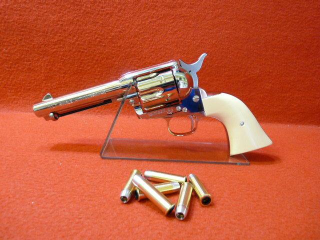 【★超目玉】マルシン・コルト S.A.A.45 ピースメーカー Xカートリッジシリーズ6mmBB スーパークロームシルバー