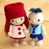 ■かわいい木のおもちゃ・木製の人形「ひのきくん・かえでちゃん」プレゼントに最適!【楽ギフ_包装選択】