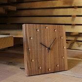 ■木製壁掛け・置き時計「WallClock Square」