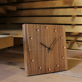 ■ Congratulations gifts for wedding, Bridal, and parents, giving birth to optimum wall thickness of wood used to luxury! WallClock Square stylish wall hangings made of wood and clock / brand